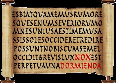 Catálogo de canciones en latín